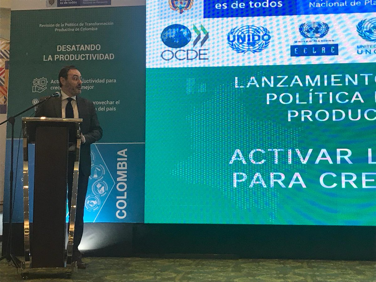 .@FBonaglia, Deputy Director of the #OECD Development Centre opens the launch of #PTPRColombia