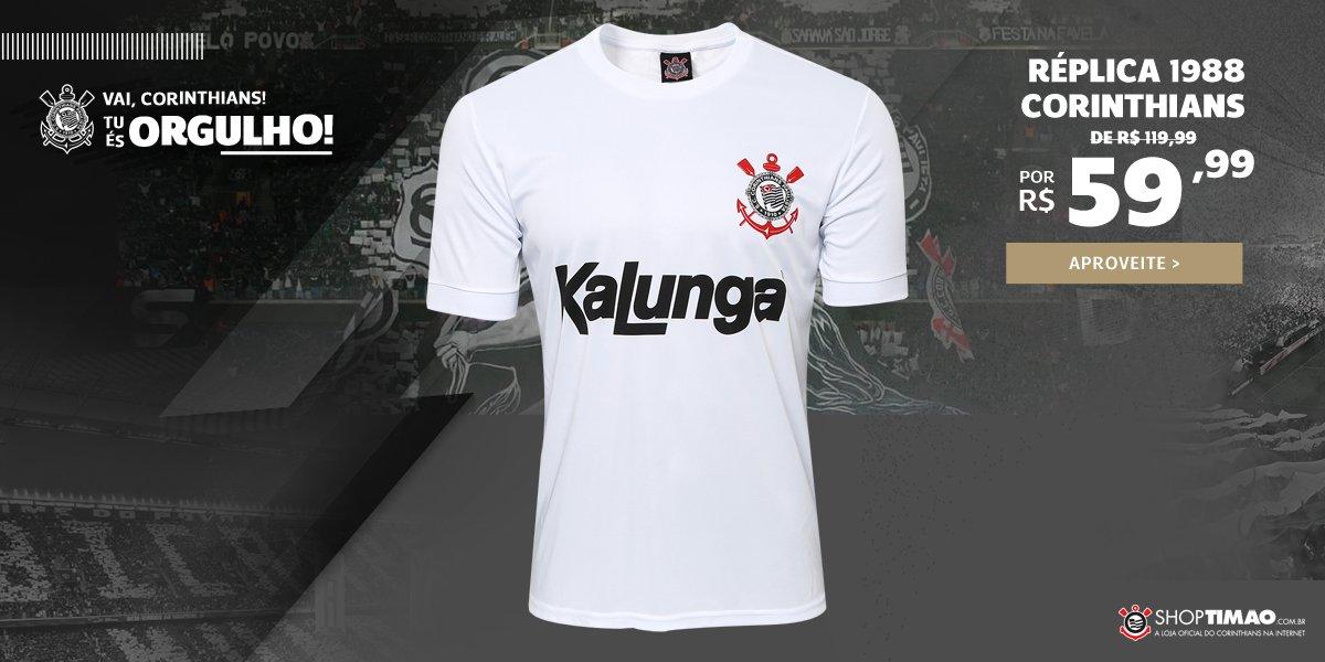 Camiseta Corinthians Réplica 1988 com mais de 50% de desconto a72e47b2454bd