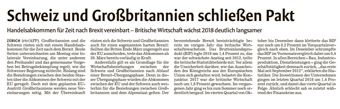 #Brexit #GreatBritain #Switzerland @juliekurz @annettedittert - via @StN_News