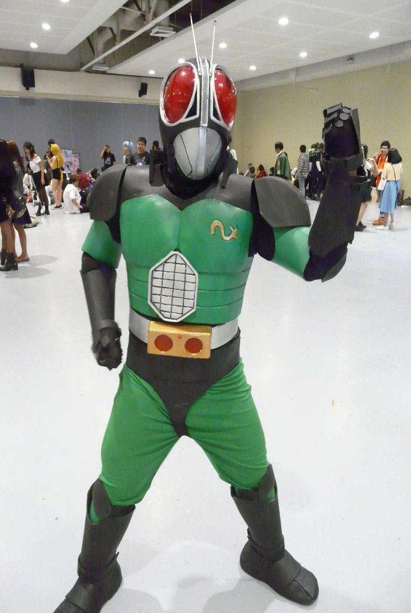 Kamen Rider Black RX cosplay made and worn by me: Photo