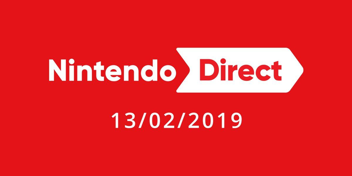 Un nouveau #NintendoDirect approche ! Rejoignez-nous à partir de 23 h (heure de Paris) le 13/02 pour environ 35 minutes d'infos sur les titres #NintendoSwitch à venir, notamment #FireEmblem: Three Houses.  ►  https://t.co/LHcIhUUIRr