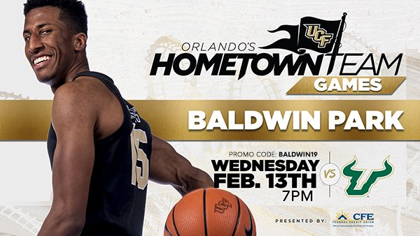 UCF Knights NCAA Basketball: Hey Baldwin Park, it's your turn to support Orlando's Hometown Team!   Come on out to W...