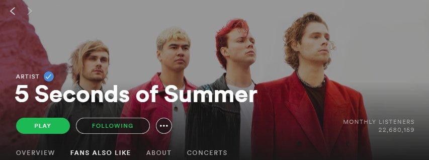 5SOS' new Spotify header!