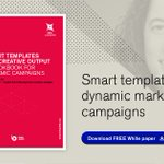 Image for the Tweet beginning: How smart templates drive dynamic