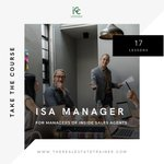 The Inside Sales Agent (ISA) Manager course in the ICC Online Learning Center is for Real Estate Agents & Team Leaders looking for the systems & processes to manage ISAs: https://t.co/6o7k3gDQ4R #realtor #realestate #isa #training
