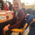 Lucy (Year 6) representing Buttsbury at the Pupil Voice event this afternoon.
