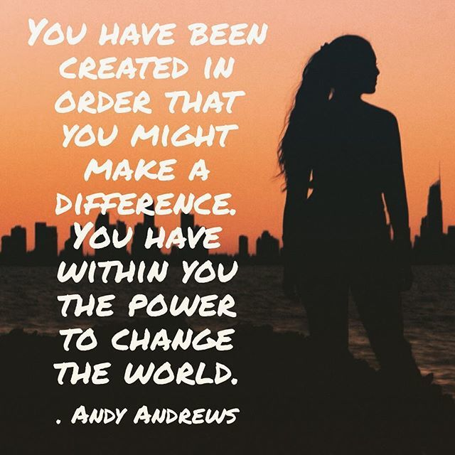 Change. The. World.  http://www.thelifeagents.us #todaymatters #inspiration #motivation #excellence #pin #andyandrews #changetheworld http://bit.ly/2Dx6LDb