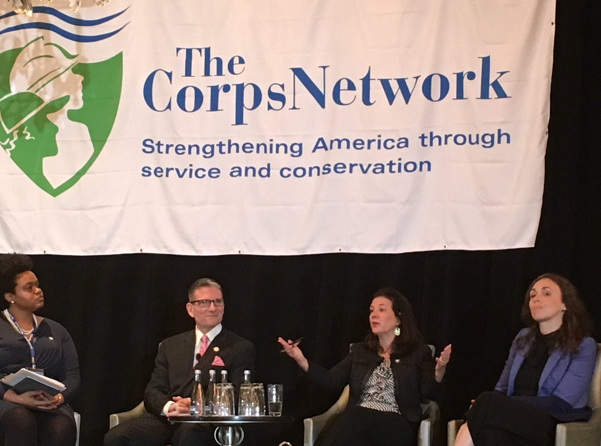 Great panel discussion w/ @ServiceYear's Erin Finucane and @Inspire2ServeUS's Joseph Heck about raising awareness and improving pathways to service through partnerships. #CorpsWork