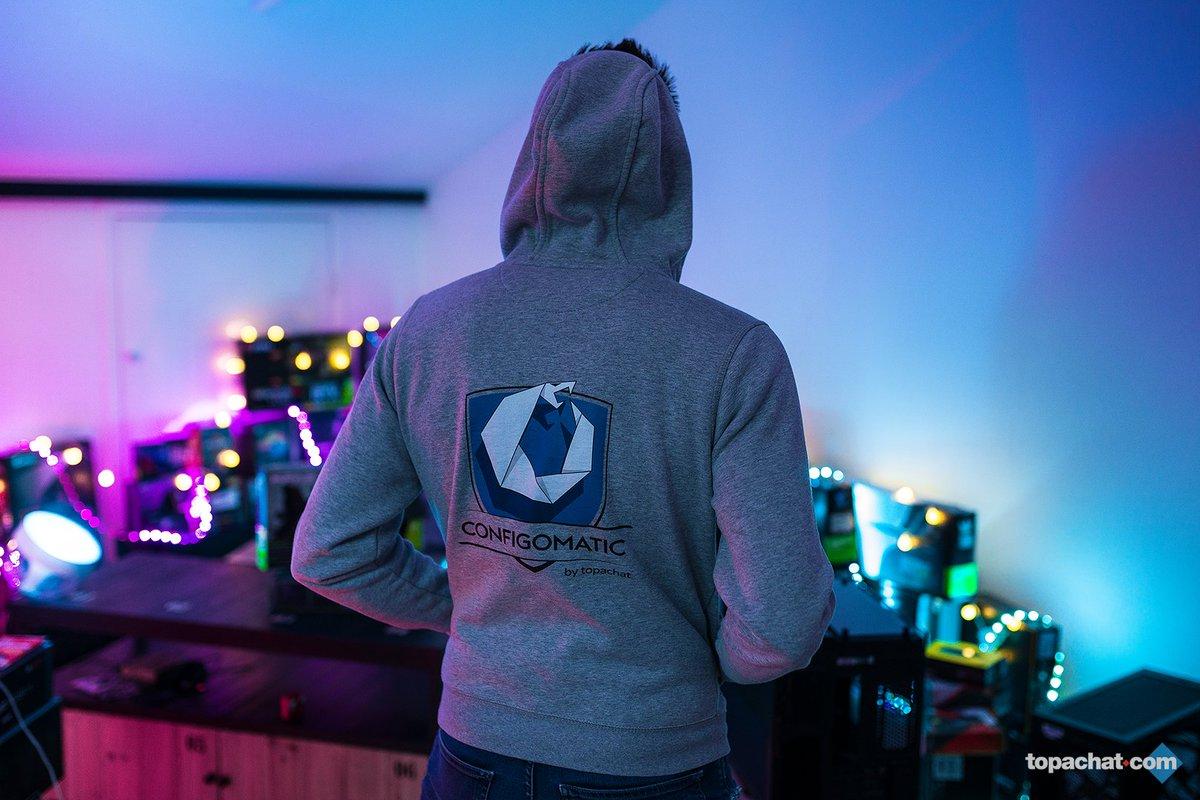 #ConcoursHoodieConfigoMatic 🎁 Ça te dirait de remporter cette pièce de collection 😍😍😍  1 hoodie #ConfigoMatic à gagner tous les 5000 RT 😱   ➡ #RT ce tweet  ➡ Follow @TopAchat    ⏳Tirage au sort tous les 5000 RT !!! 🍀