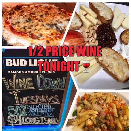 💃 Wine Down Tuesday!! Delicious Food Plus 1/2 price Wine Tonight!!🍤🍜🍕🍷#dinner #Food #wine #family https://t.co/qXz5zv18zZ