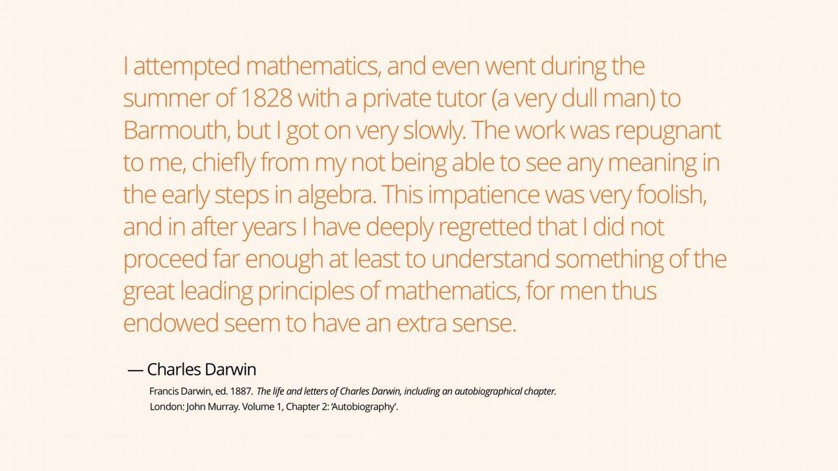 Maths Ed's photo on #darwinday