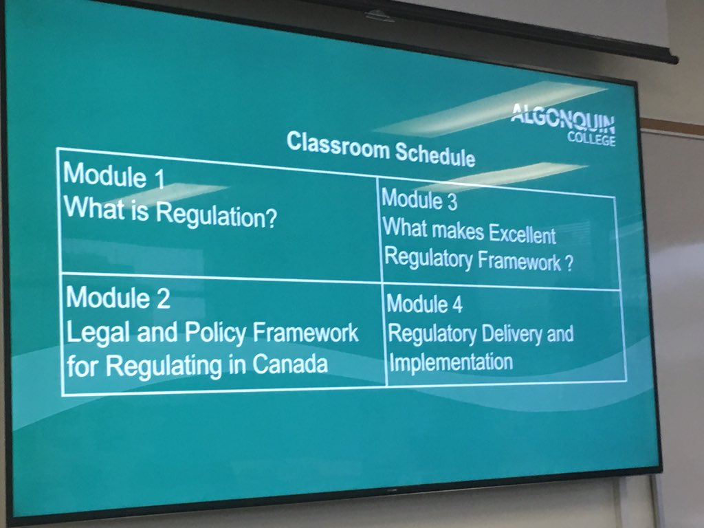 """We're pleased to be introducing a new """"Orientation to Regulation"""" Course through @AlgonqinColleg. Registration is anticipated to start in May 2019!"""