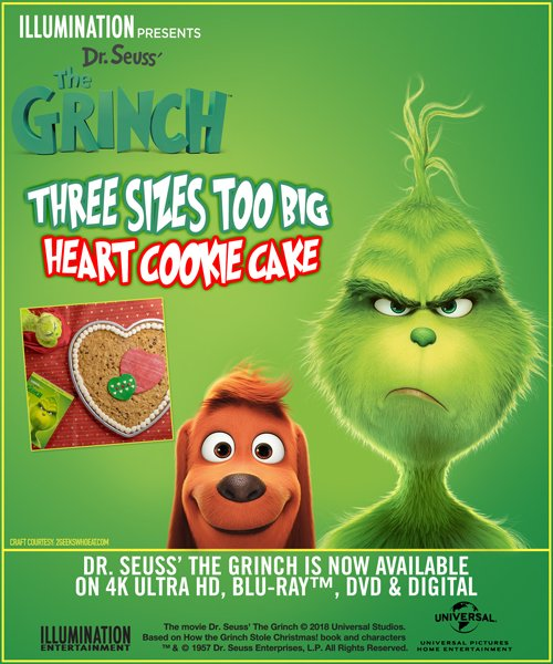 Celebrate Valentine's Day with this Cookie Cake #Recipe from #TheGrinch https://t.co/k6bIbBTRs0 https://t.co/qeEvn3RVxF