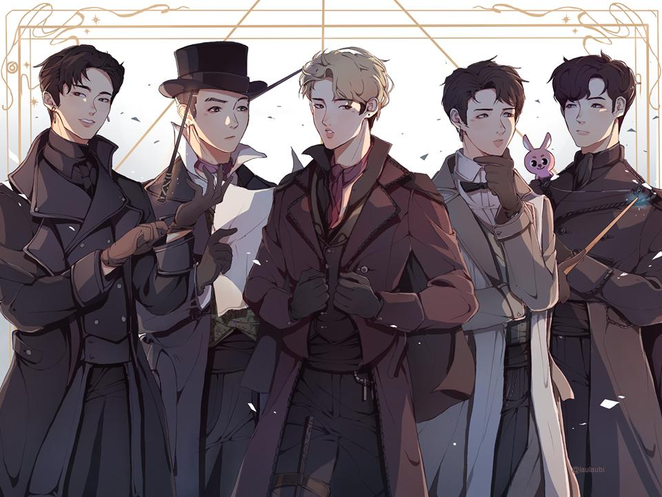 Remember the poll when you guys choose Detectives/wizards au for D6... I think I got carried aaway and did a Fantastic Beast Day6 thing..///// [thread with more details abt the AU :D] #DAY6 #day6fanart #fantasticbeast