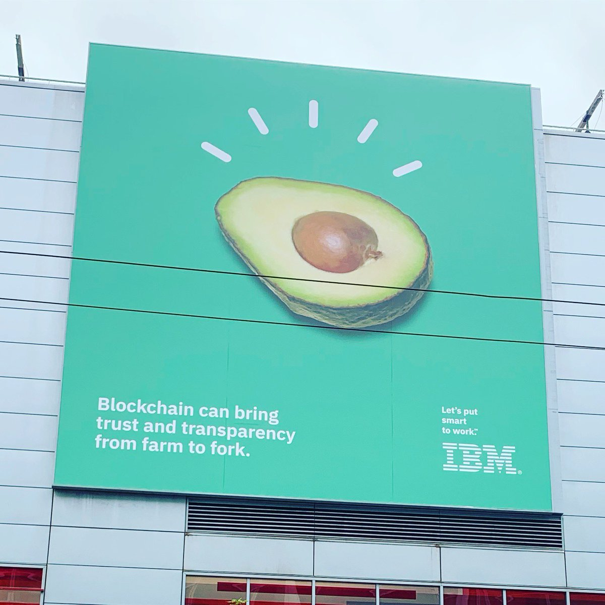 """Spotted in SF: IBM has found a mythical creature """"blockchain"""" to solve humanity's greatest problems."""