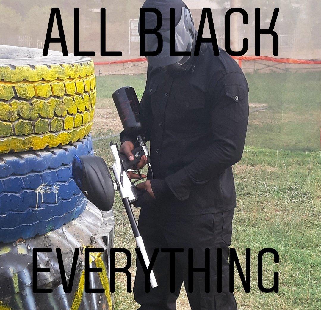 Everything looks better in black #WeAreRapid #paintball #Abuja #Fun #action #battlegames #runhideshoot #adventure #extremesport #Weekday #squad #noretreatnosurrender #adrenalin #team #AbujaTwitterCommunity