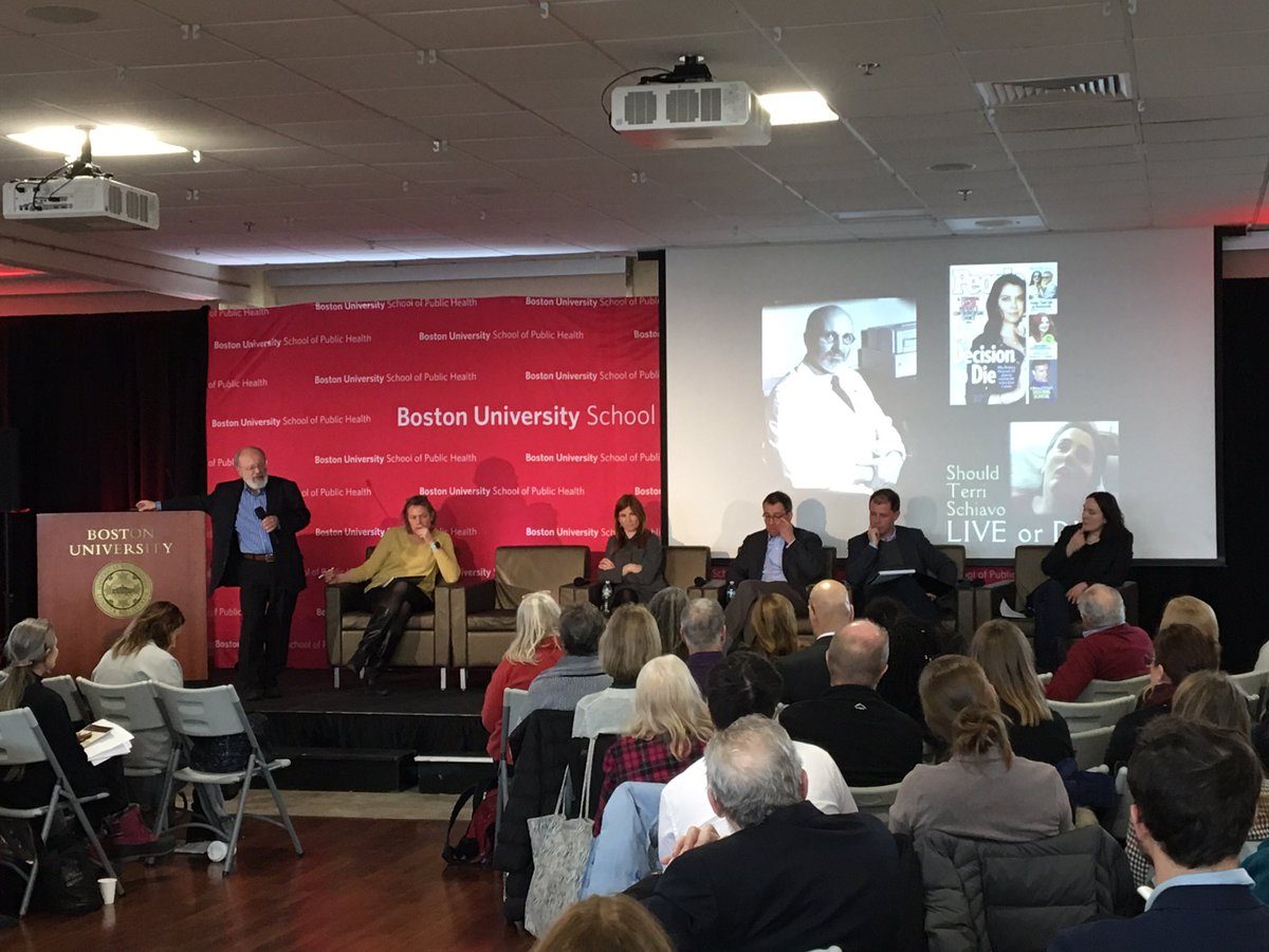 """American medicine can only make death worse. It can't make it better. Because it deals in miracles."" @georgejannas on why we should let go of the idea that we can live forever, and instead embrace the goal of dying healthy. #BUSPHSymposia <br>http://pic.twitter.com/JPJO1aD47l"