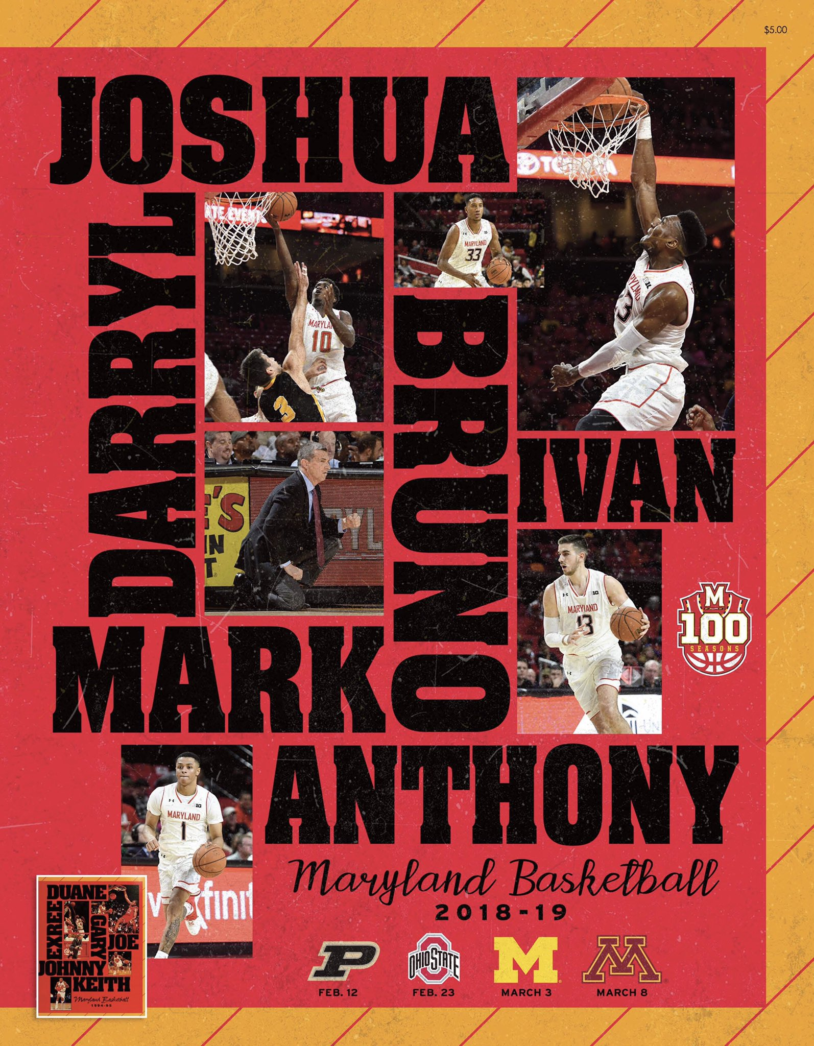 Maryland Terrapins NCAA Basketball: The final installment of our throwback game day program covers is here!   Make sure you...