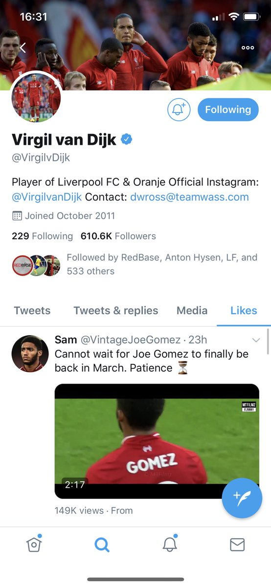 Just Virgil watching Joe Gomez compilations in his spare time 🤷♂️ https://t.co/eckdyfVDry
