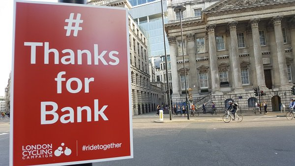 test Twitter Media - Massive thank you to everyone who supported our campaign to make Bank Junction safer for everyone – this is the result. A safer, more efficient junction for those on bike, foot or public transport, & a new public space in the heart of London #ThanksforBank https://t.co/5HTmLzuQXF https://t.co/CtjnnBBtKZ