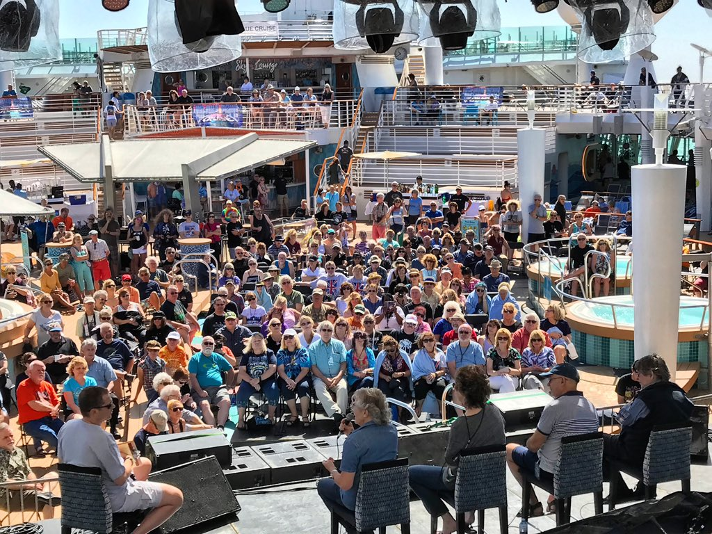 Zombies Q&A...what a wonderful crowd! #onthebluecruise
