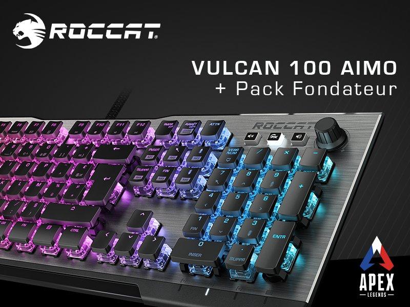 VOUS ÊTES LE CHAMPION ! 🥇  Tentez de gagner : ✔ Le @ROCCAT Vulcan 100 AIMO ✔ et un Pack Fondateur #Apex  Pour participer : RT + Follow @ROCCATFrance & @PlayApexFR TAS : 17/02