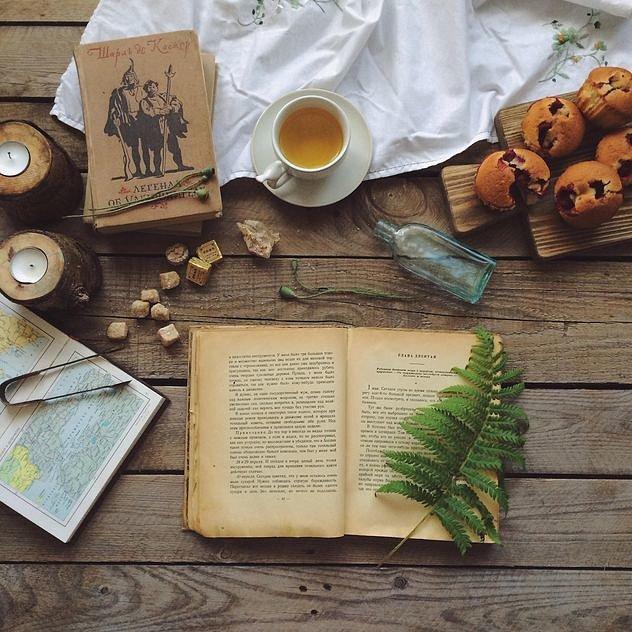 Как сделать фотографию книги и чая