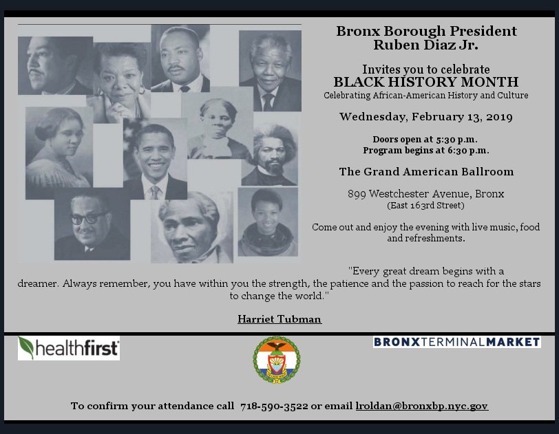 TOMORROW: Come out to our #BlackHistoryMonth celebration! There will be food and live music