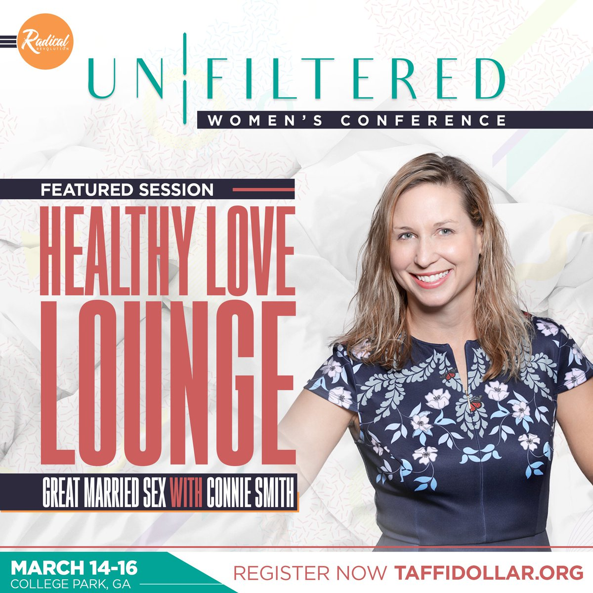 "The 2019 Radical Women's Conference ""Unfiltered"" will feature a breakout session with @connielovesmike on embracing intimacy. Take advantage of $45 tickets and register now by texting Radical2019 to 51555!  #RadicalWomen #WomensConference #Unfiltered  #UnfilteredConference"