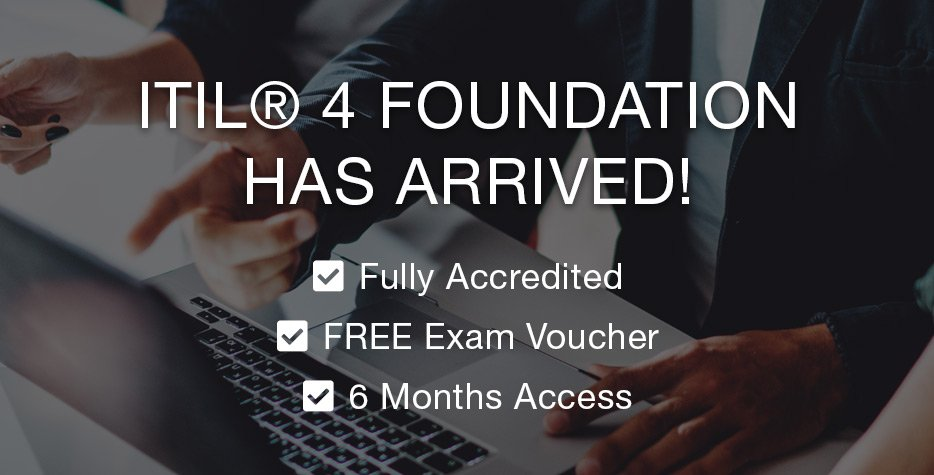ITIL 4 Foundation has Arrived!  Click here to view the course: http://bit.ly/2St3e33  Get ahead of the competition! Take our brand new fully accredited ITIL® 4 Foundation online training course! Including FREE exam voucher!  #ITIL #ITIL3 #ITIL4 @AXELOS_GBP #ITSM