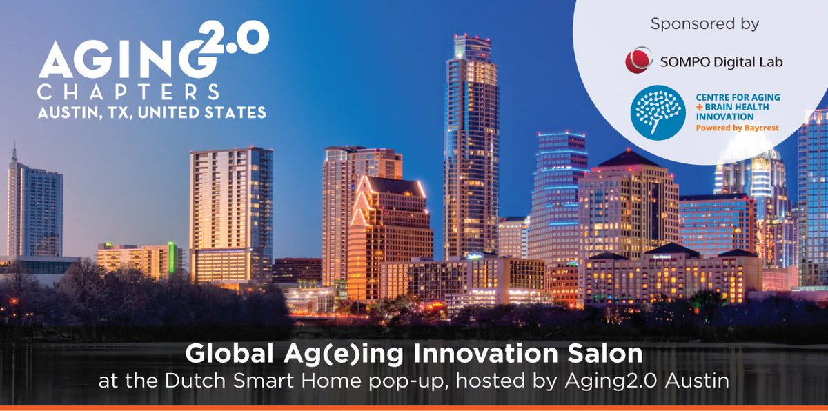Will you be in #Austin for #SXSW 19? Join @Aging2Austin for a salon event March 10, hosted by @Aging20 and sponsored by CABHI and SOMPO Digital Lab, focused on global ag(e)ing issues and innovators. RSVP at https://www.aging2.com/austin
