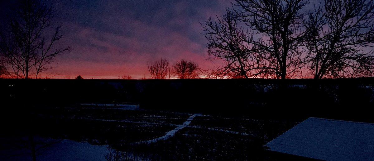 Dawn before 'Snowmageddon'