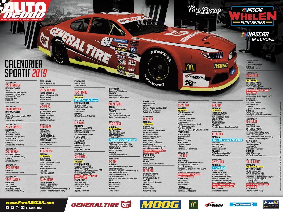 Calendrier Nascar.Euronascar On Twitter In Case You Missed It Here S The