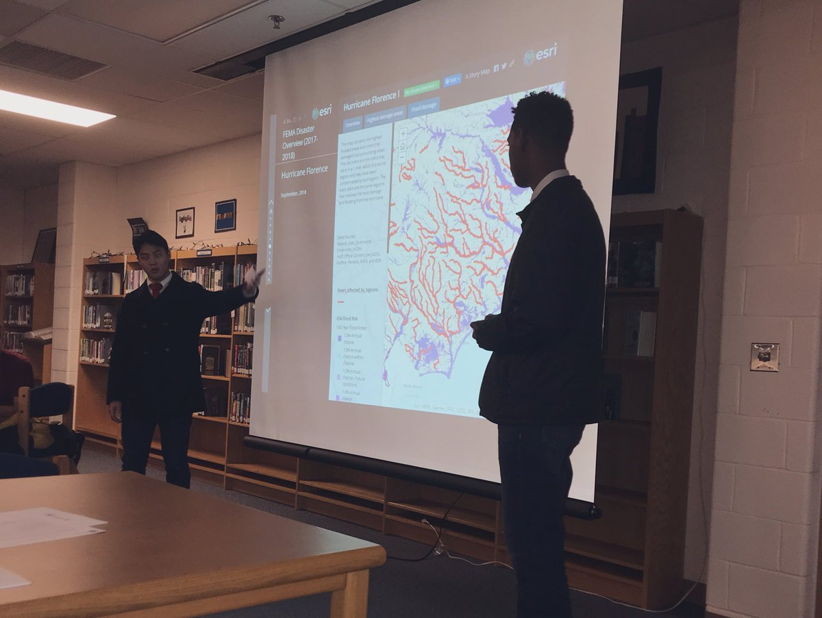 In Sept 2018 Hurricane Michael cost @fema $127m and significantly impacted the Carolinas through flooding<br>http://pic.twitter.com/PsWazRIKea &ndash; à Fairfax High School
