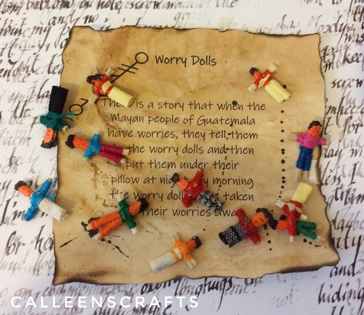 4d401767 Excited to share this item from my #etsy shop: 6 small worry dolls with  box, witchcraft supplies, wiccan supply, worry dolls, 4 box colours to  choose from, ...