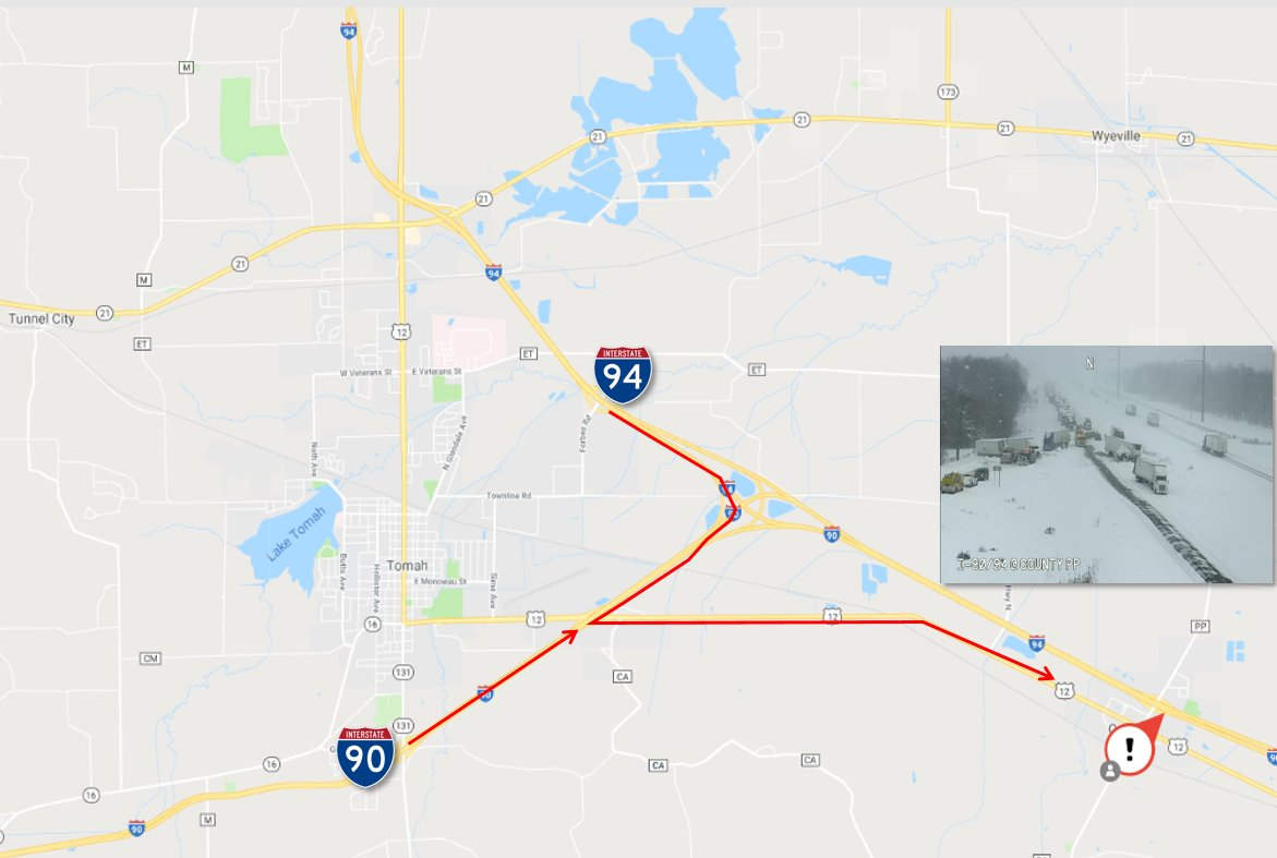 511 Wisconsin On Twitter Traffic Alert Eb Lanes Of I 94 Are - Us-interstate-90-map