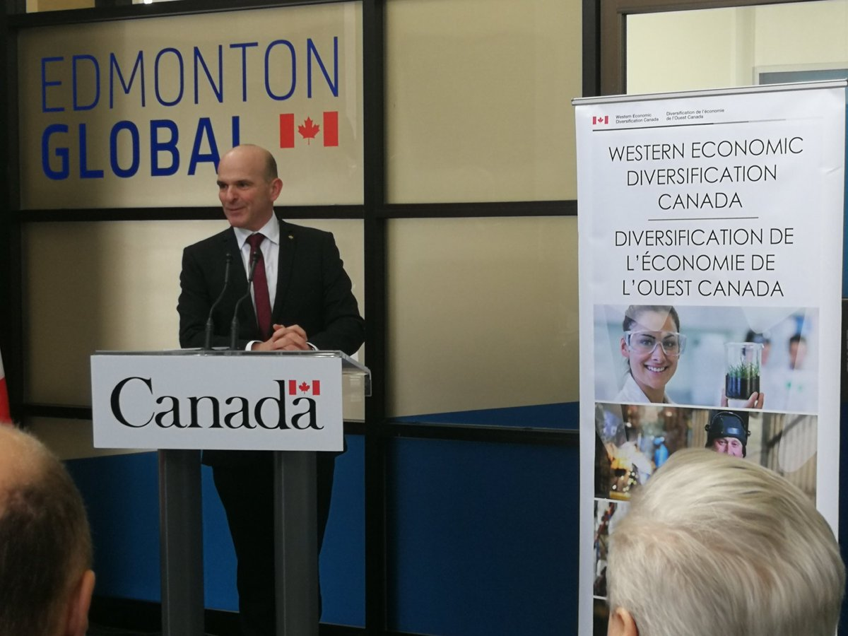MP Boissonault brings a $2.3M Federal investment in Edmonton Global. Fabulous news as the region continues to target  $3-4B in investment. @R_Boissonnau @EdmontonGlobal @doniveson @T4XBeaumont @yegmetro,@T4XMayorStewart @MayorBobY_Leduc