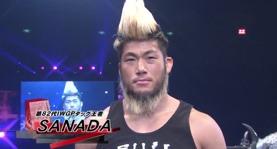 """Did you, in your travels, get an investigative report going on what&#39;s up with that beard of Sanada&#39;s? He looks like a Japanese hillbilly.""  #NJPW #NJPWWorld #njnbg The New Beginning in Osaka - 2019/02/11<br>http://pic.twitter.com/Sw97uLT6bC"
