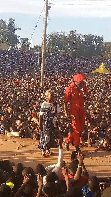 Happy birthday   my lovely president,Mr bobi wine may u live to see your grand and grand children, blessings,.