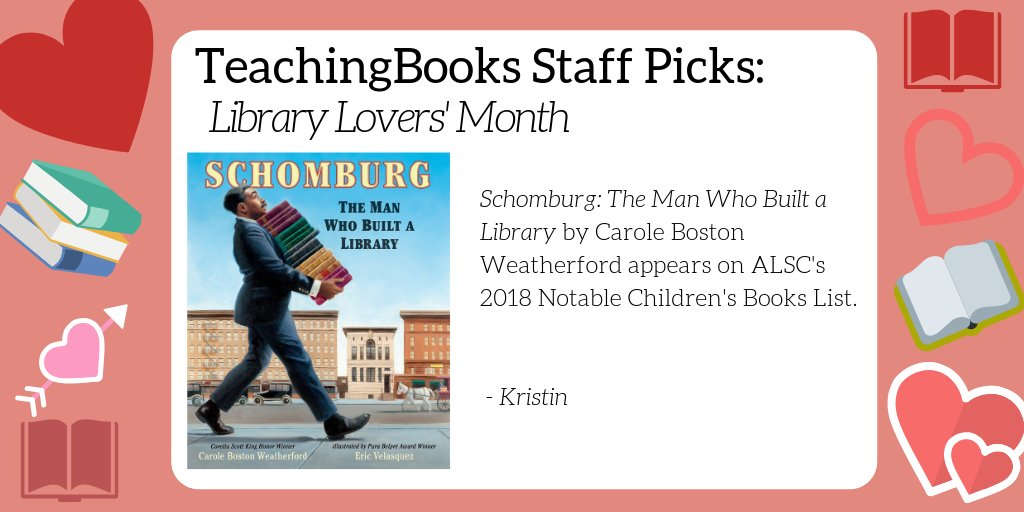 test Twitter Media - February is Library Lover's Month. What's your go-to book about libraries or book lovers? Here's a resource for a favorite of ours - https://t.co/LcFLpYfYFg    @Candlewick @poetweatherford @ericvelasquezny https://t.co/7vxBvLto8j