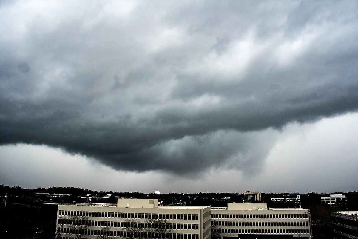 As the line approached @weatherchannel   #gawx<br>http://pic.twitter.com/zLkmpufPIE