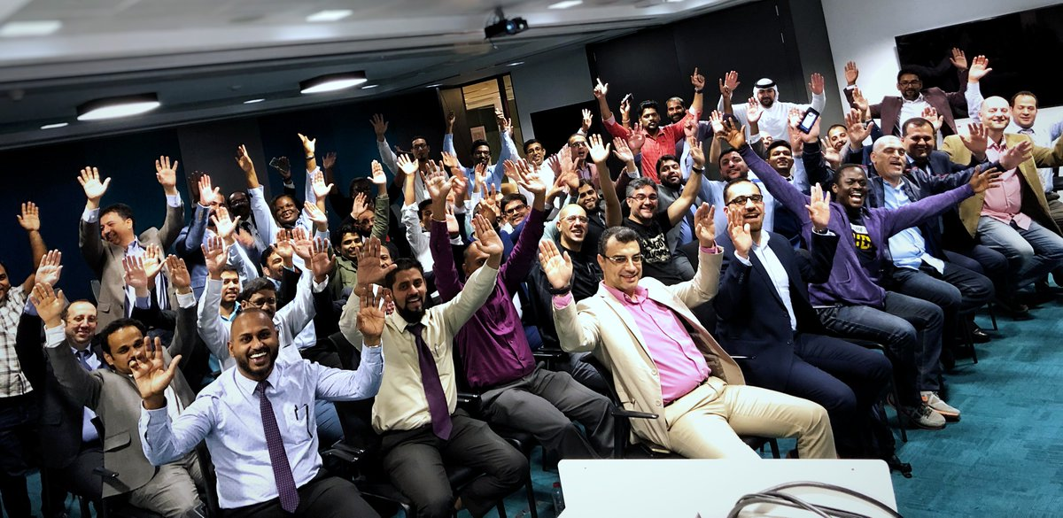The #orclapex community is rocking #Dubai at the largest ever APEX meet up in the Middle East!  Thank you all for making this possible and for sharing your stories with us!  #OOWDXB #LowCode #LetsWreckThisTogether @OracleDevs @OracleDatabase @groundbreakers   @chaitanya_in<br>http://pic.twitter.com/EF17aiFLuY