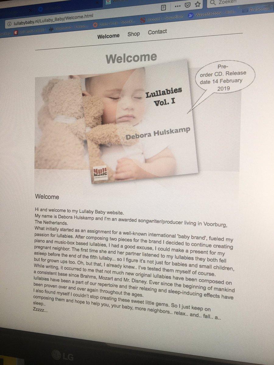 New website online! Yeah!  http://www. lullabybaby.nl  &nbsp;   #Lullaby #lullabies<br>http://pic.twitter.com/EoLdD4CXGL