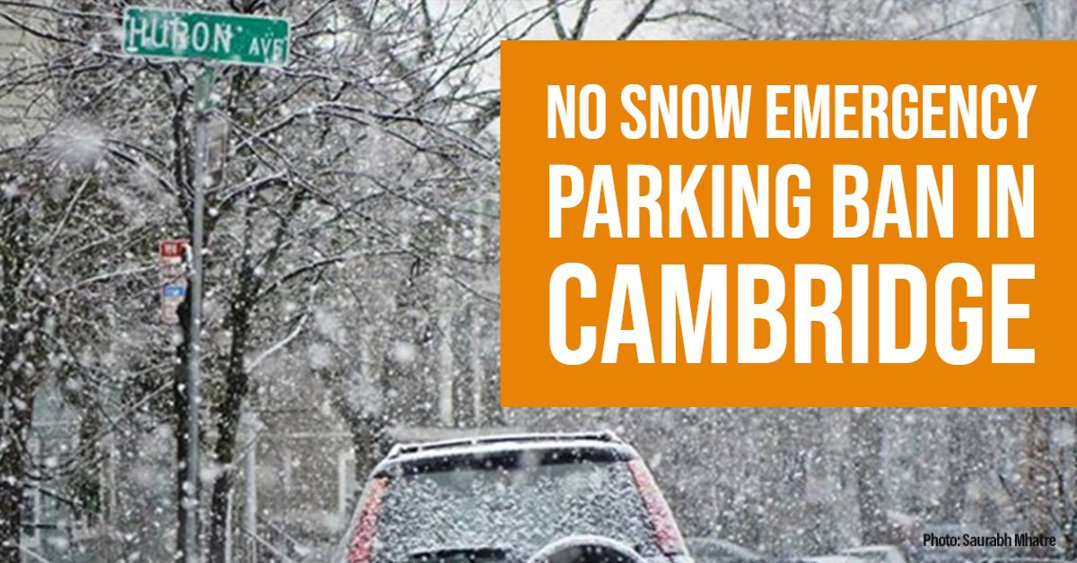 85fe7294a ... not declaring a Snow Emergency Parking Ban. Keep up to date on other  service/program impacts during the storm by visiting the #CambMASNOW Center  ...