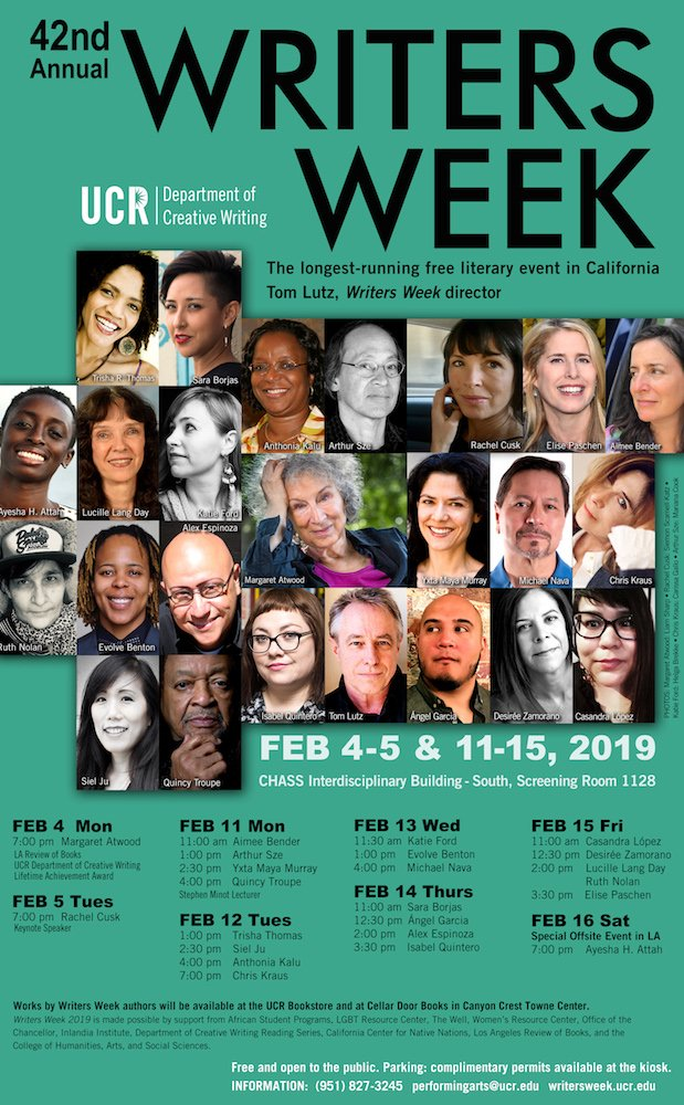 42nd Annual #WritersWeek Conference 2019 Tom Lutz, Writers Week director
