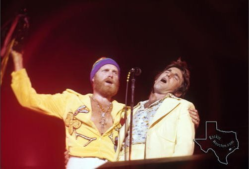 Today in 1975 Dennis Wilson recorded the first cut of Pacific Ocean Blues, which he cowrote with Mike Love. This picture is from a few months later that year. <br>http://pic.twitter.com/d3nwauML3i