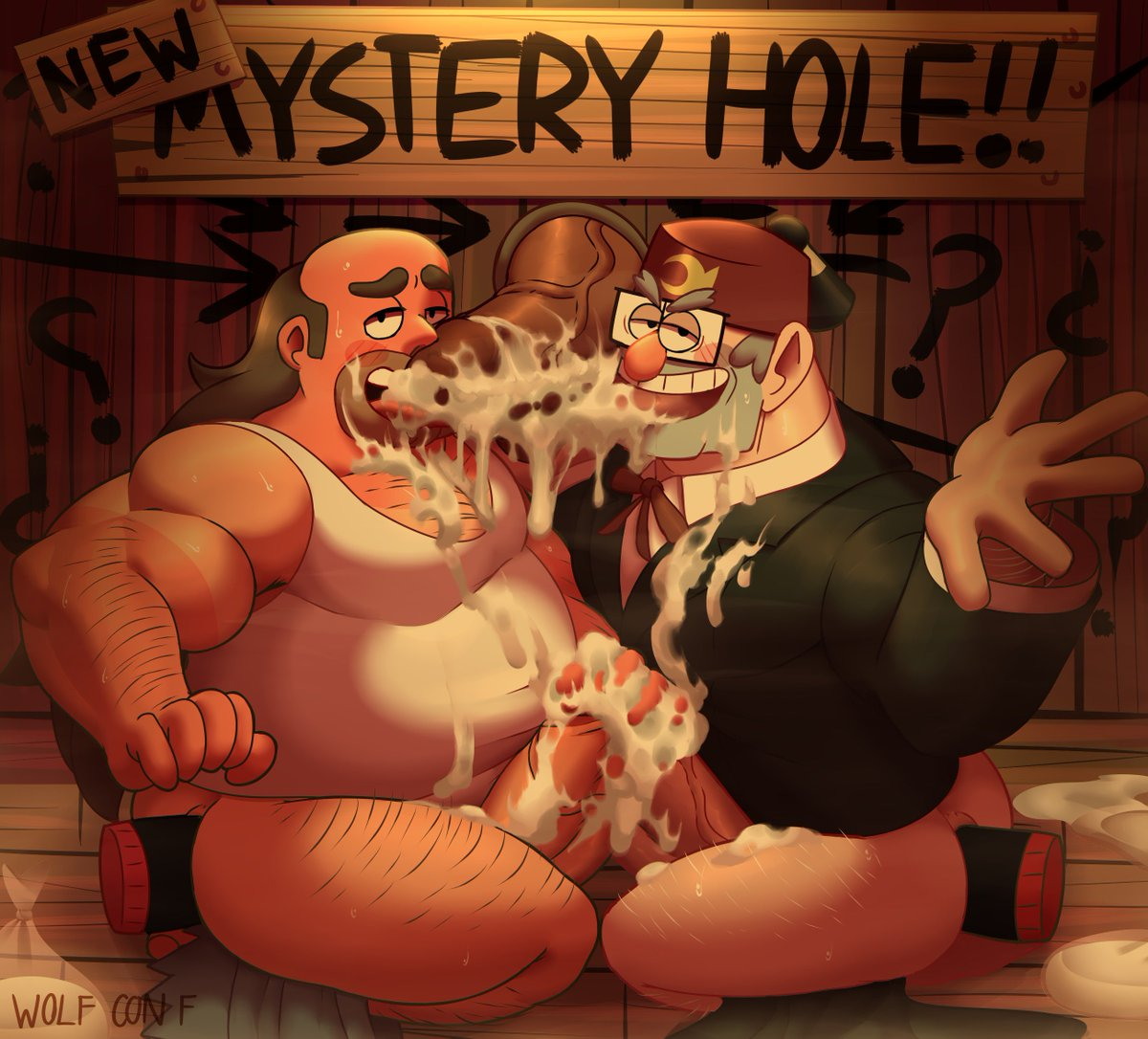 "Wolf con F 🔞 على تويتر: ""A commission Greg and Stan try the new ..."
