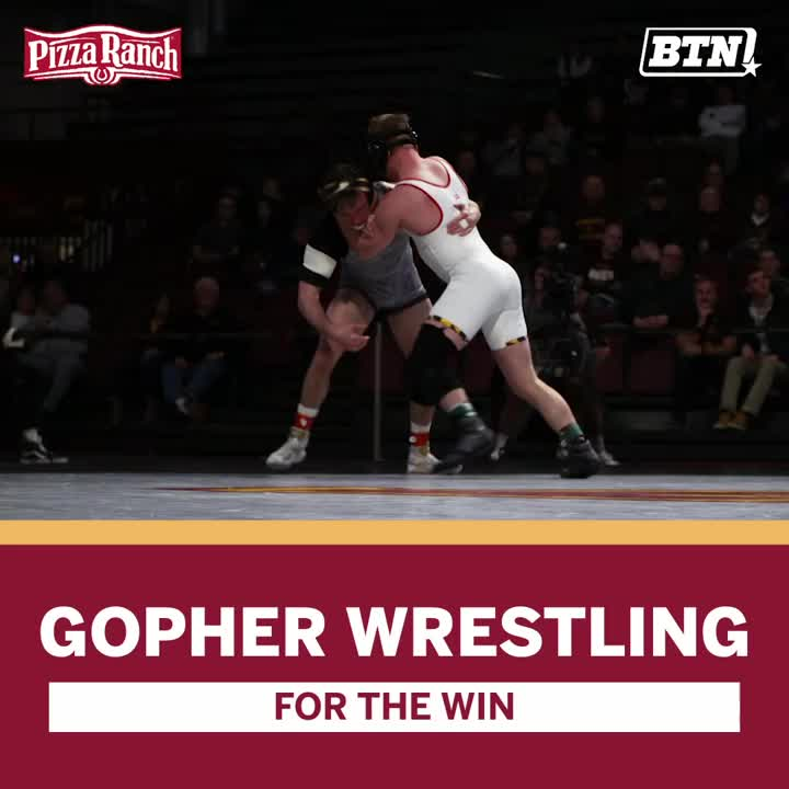 We know the B1G is a tough wrestling conference.   Congrats to @GopherWrestling on posting their first shutout since 2012. 💪 #GopherTough  BTN x @PizzaRanch