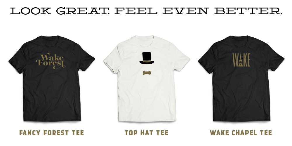 Make a gift of $25 to the Wake Forest Fund for the School of Business and get a Tee unrivaled by any! https://t.co/Hi2PuEoSTu