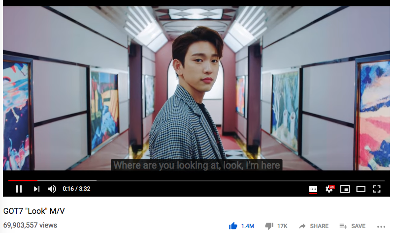 #GOT7 Look at 69.9M can soon be overtaken by #Lullaby at 68.7M with 100+K daily views. Let&#39;s stream some more so Lullaby can break Never Ever&#39;s record for the fastest 100M MV. Thanks ahgases! #갓세븐  @GOT7official #PresentYOU #EyesOnYou <br>http://pic.twitter.com/EtyIdwQoG4